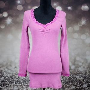 Free People Pink Veba Lace Cuff Thermal